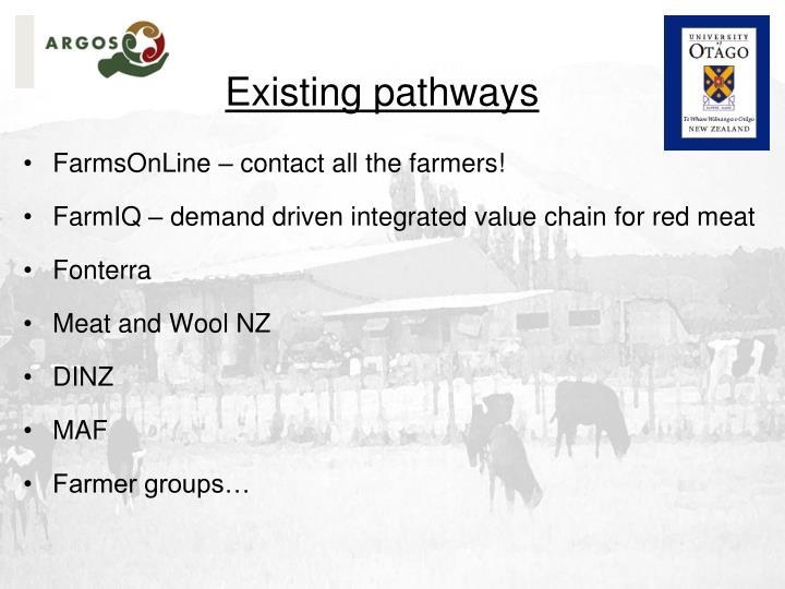 Existing pathways