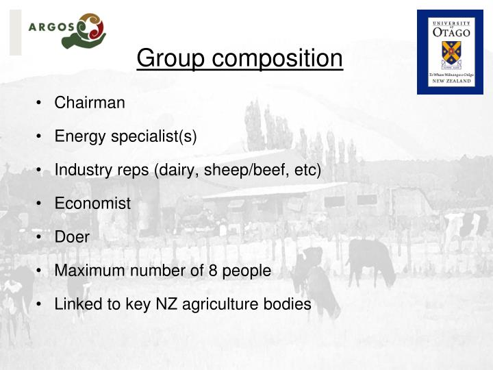 Group composition