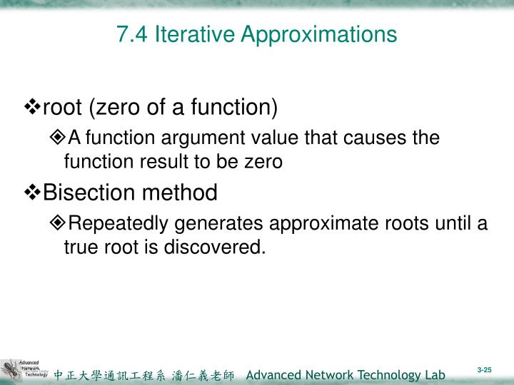7.4 Iterative Approximations