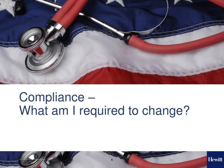 Compliance –