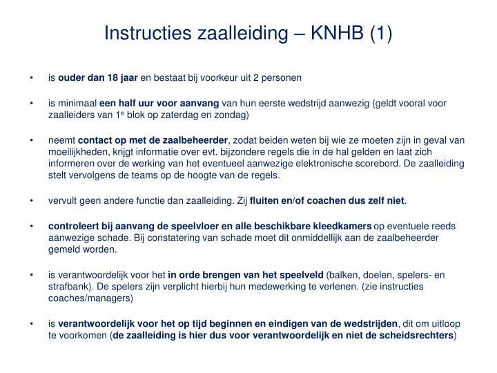Instructies zaalleiding – KNHB (1)
