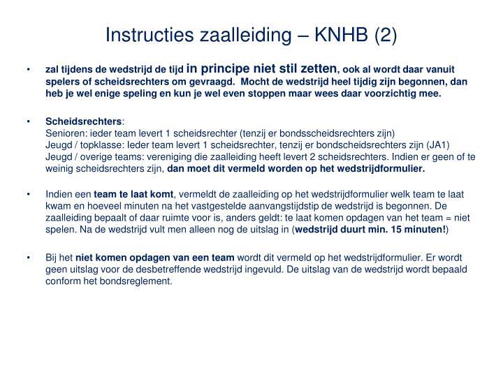 Instructies zaalleiding – KNHB (2)