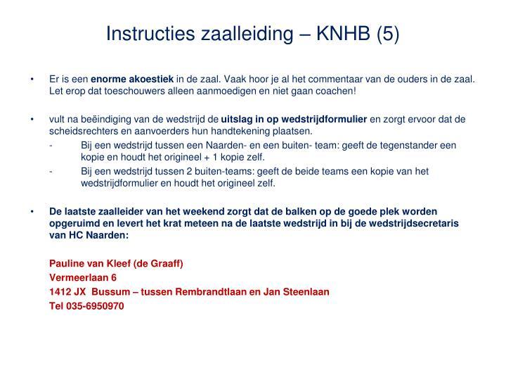Instructies zaalleiding – KNHB (5)