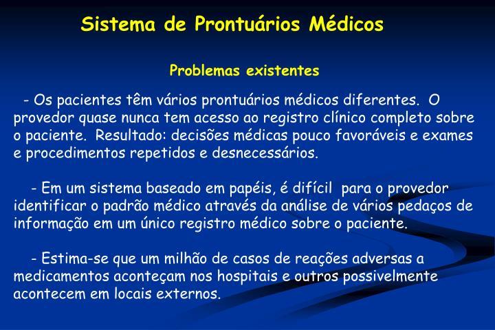 Sistema de Prontuários Médicos