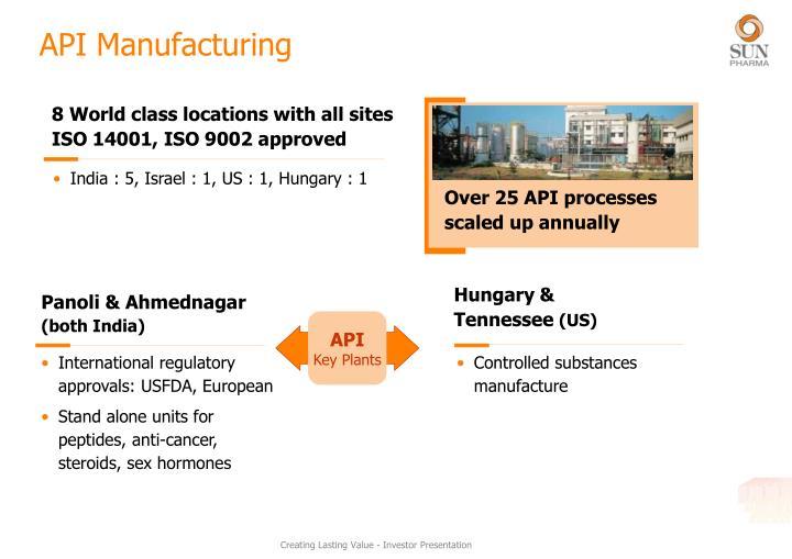 API Manufacturing