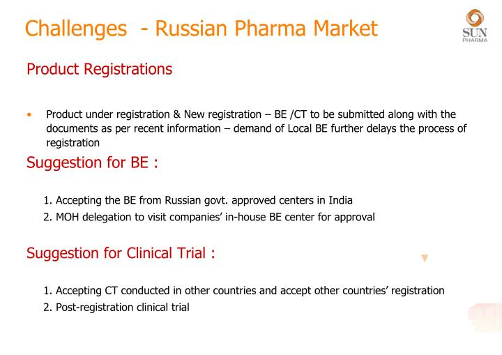 Challenges  - Russian Pharma Market
