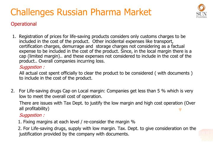 Challenges Russian Pharma Market