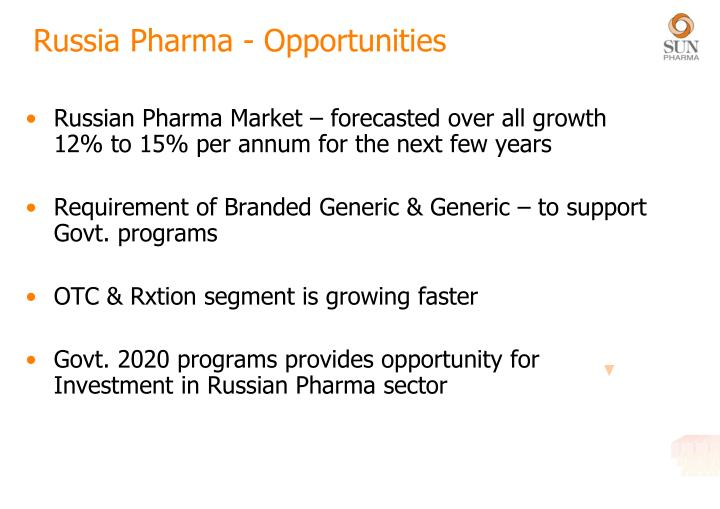 Russia Pharma - Opportunities