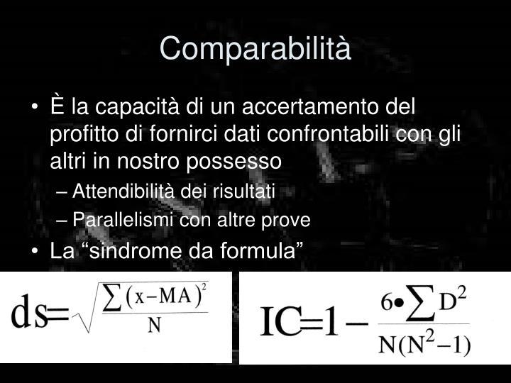 Comparabilità