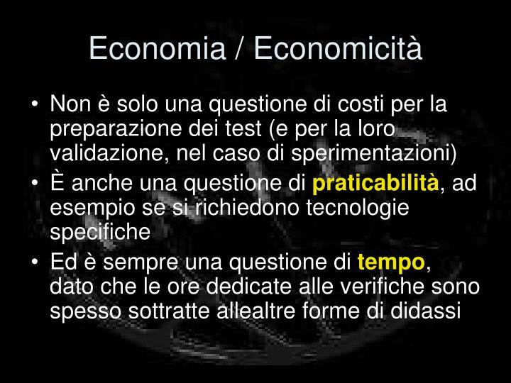 Economia / Economicità