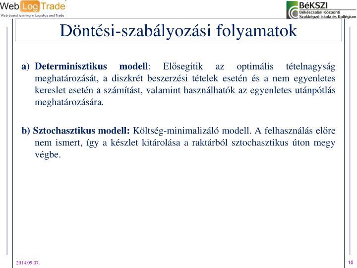Determinisztikus modell