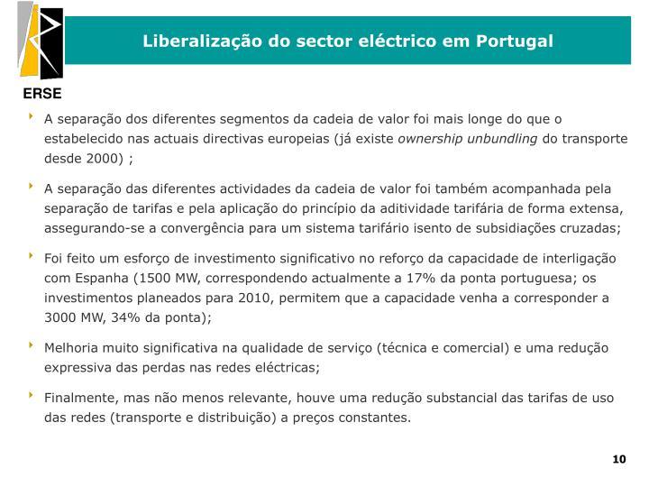 Liberalização do sector eléctrico em Portugal