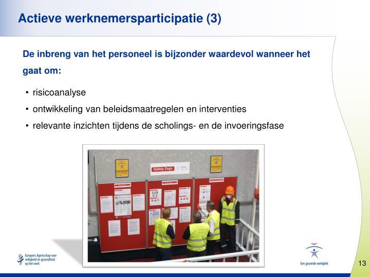 Actieve werknemersparticipatie (3)