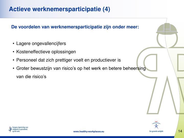 Actieve werknemersparticipatie (4)