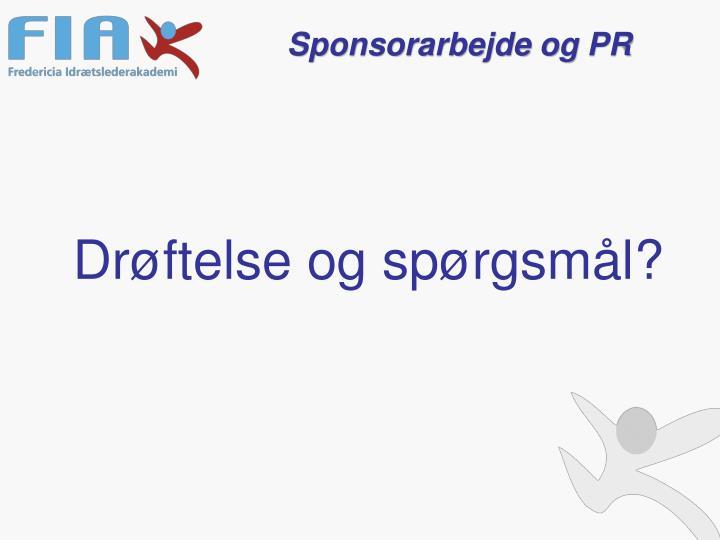 Sponsorarbejde og PR