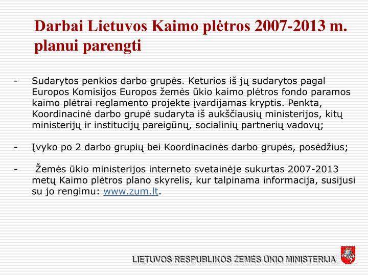 Darbai Lietuvos Kaimo plėtros