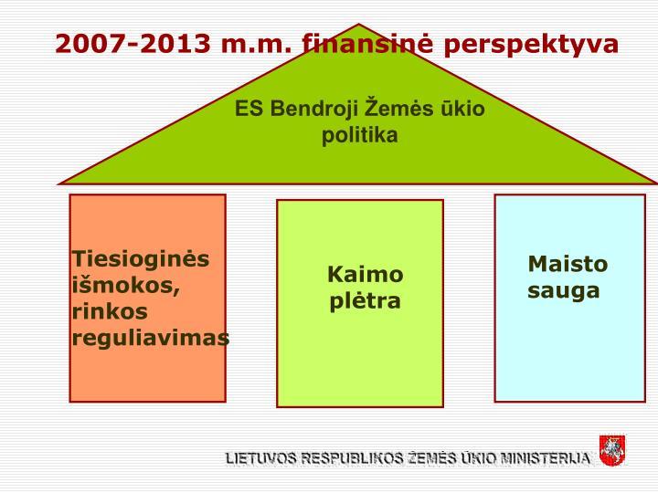 2007-2013 m.m. finansinė perspektyva