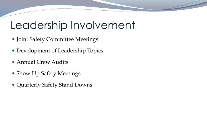 Leadership Involvement