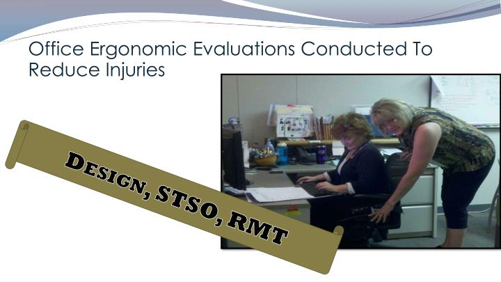 Office Ergonomic Evaluations Conducted To Reduce Injuries