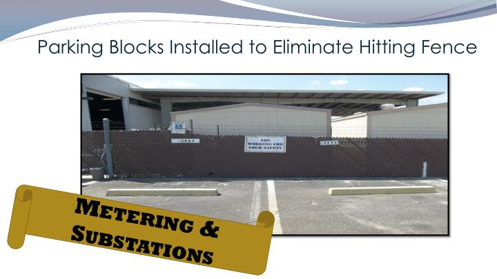 Parking Blocks Installed to Eliminate Hitting Fence