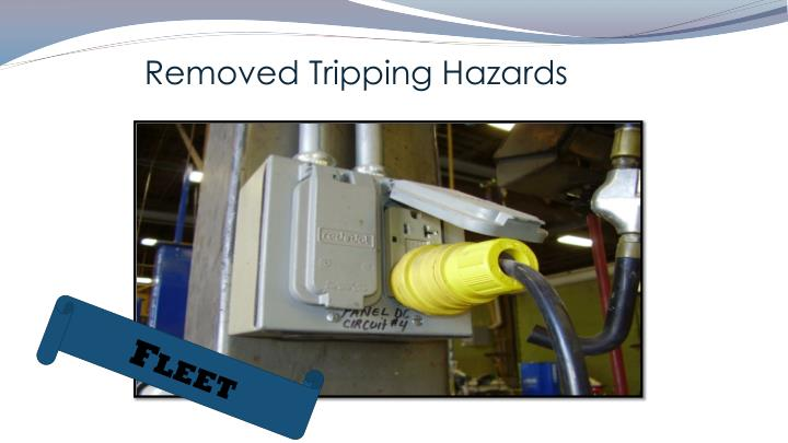 Removed Tripping Hazards