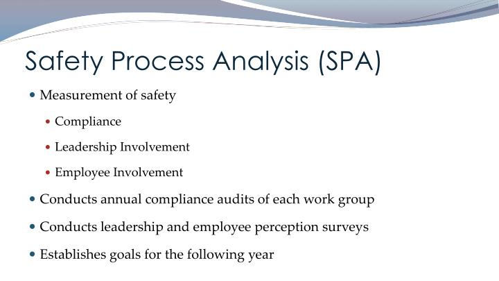 Safety Process Analysis (SPA)