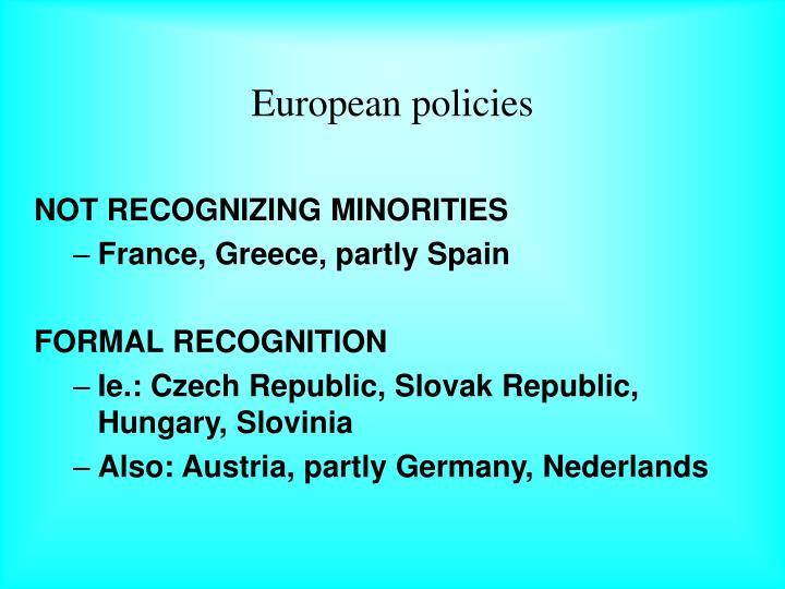European policies