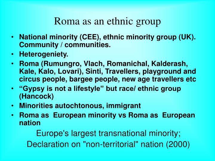 Roma as an ethnic group