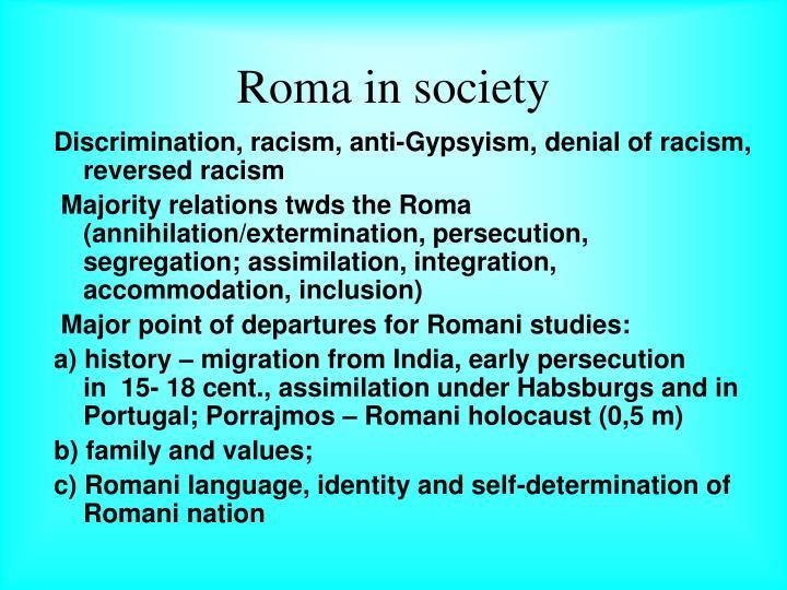 Roma in society