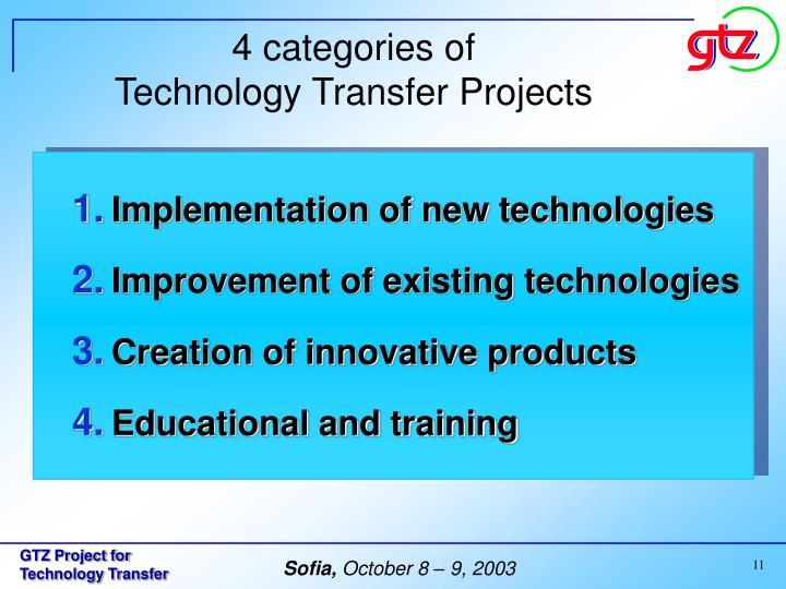 4 categories of