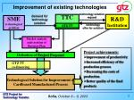 improvement of existing technologies
