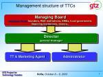 m anagement structure of ttcs