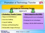 promotion of technology transfer