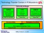 technology transfer centers in r macedonia