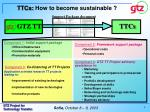 ttcs how to become sustainable