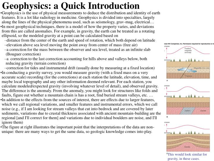 Geophysics: a Quick Introduction