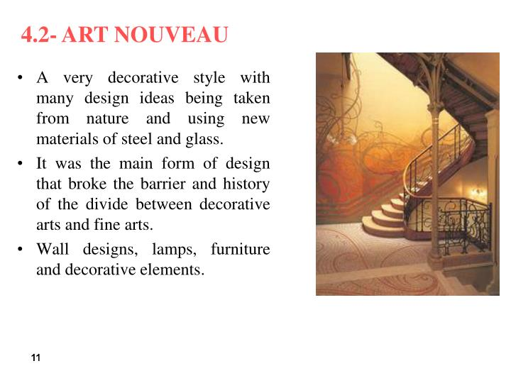 Art Nouveau Furniture History Ppt