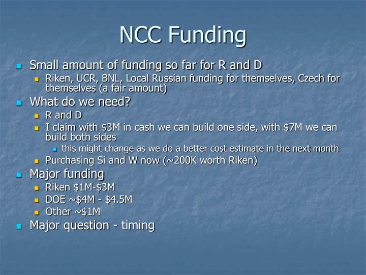 NCC Funding