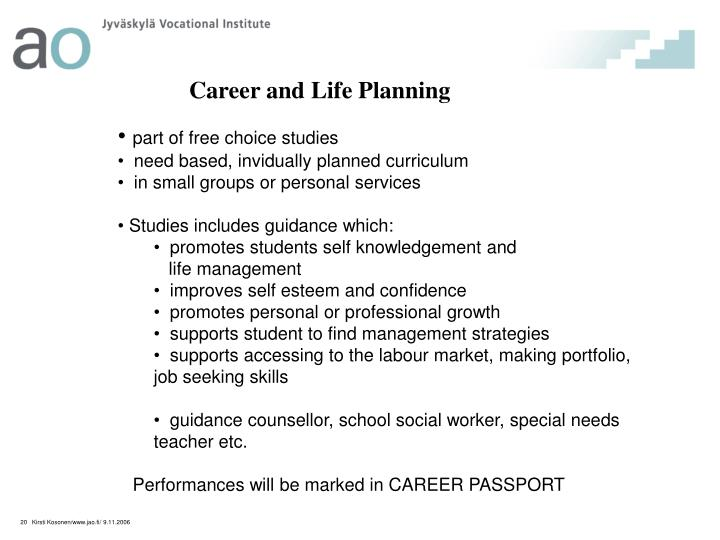 Career and Life Planning