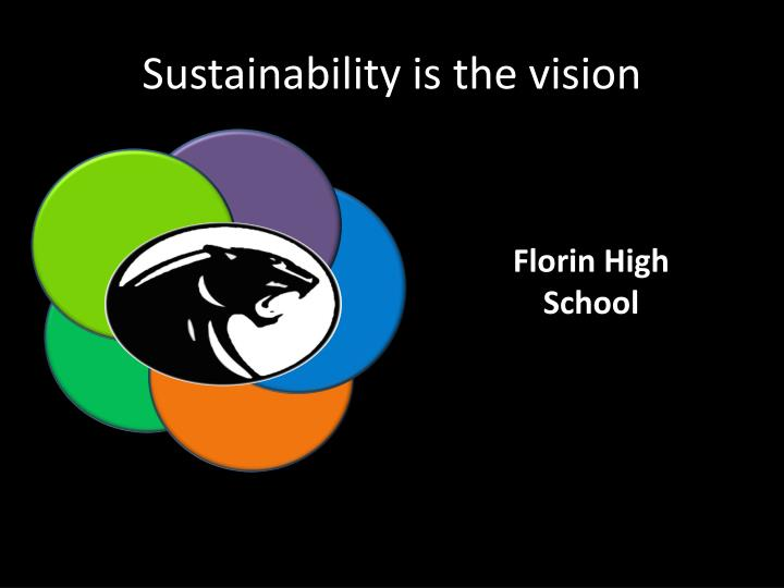 Sustainability is the vision