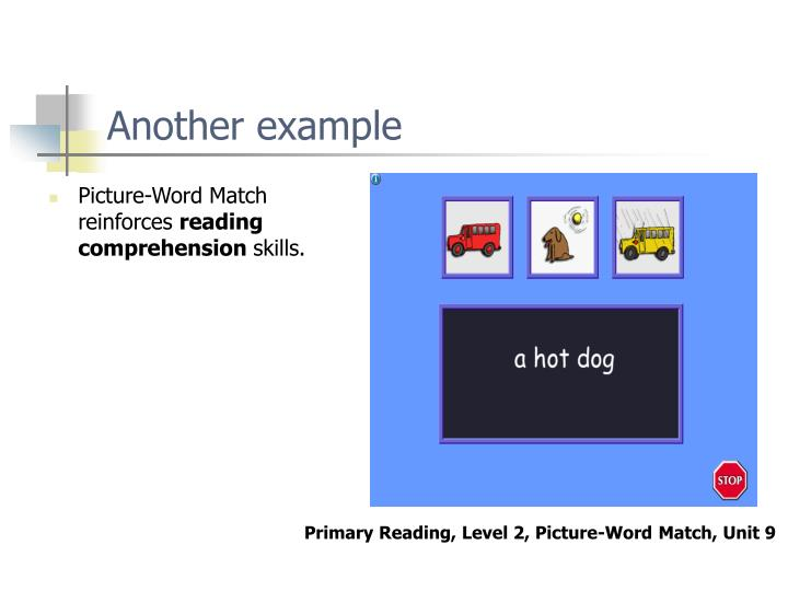 Picture-Word Match reinforces
