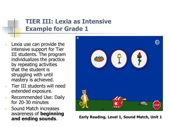 TIER III: Lexia as Intensive