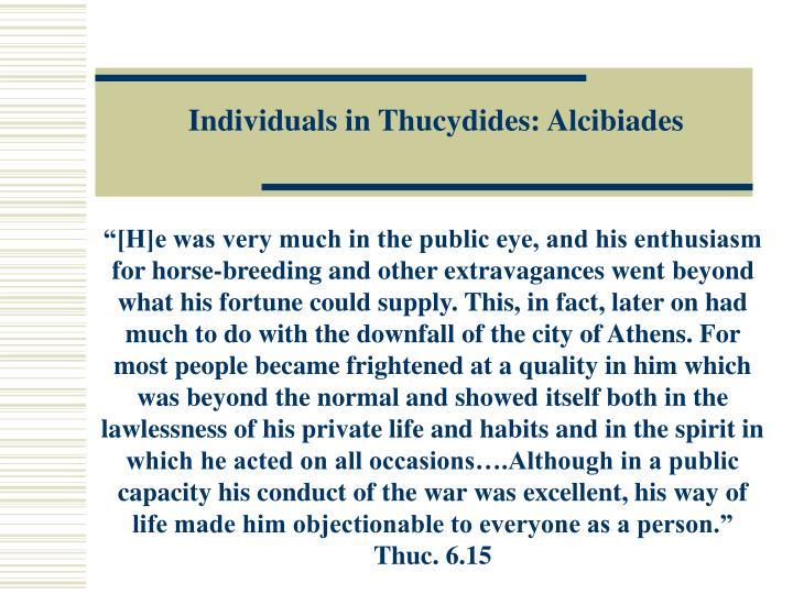 Individuals in Thucydides: Alcibiades