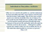 individuals in thucydides alcibiades