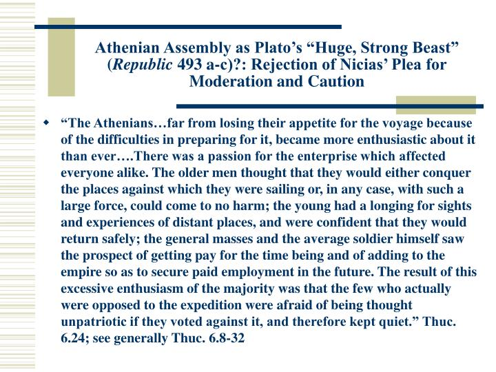 "Athenian Assembly as Plato's ""Huge, Strong Beast"" ("