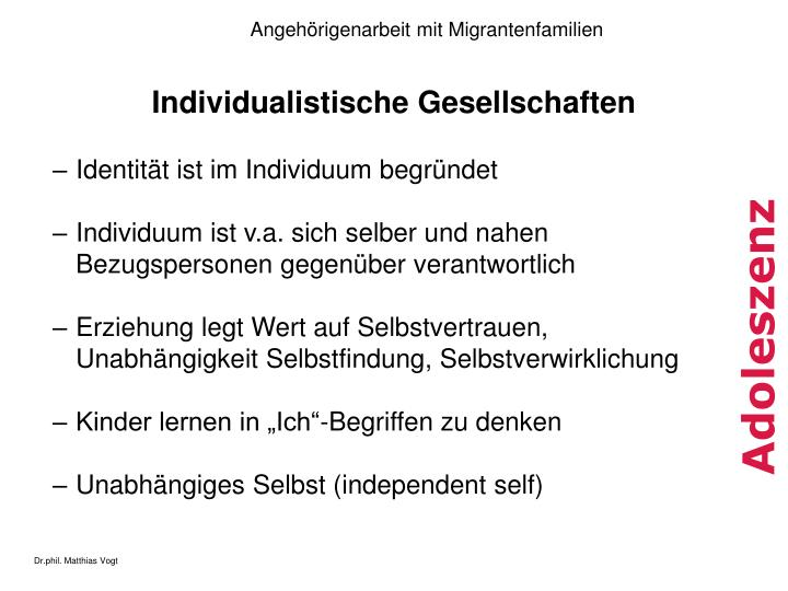 Individualistische Gesellschaften