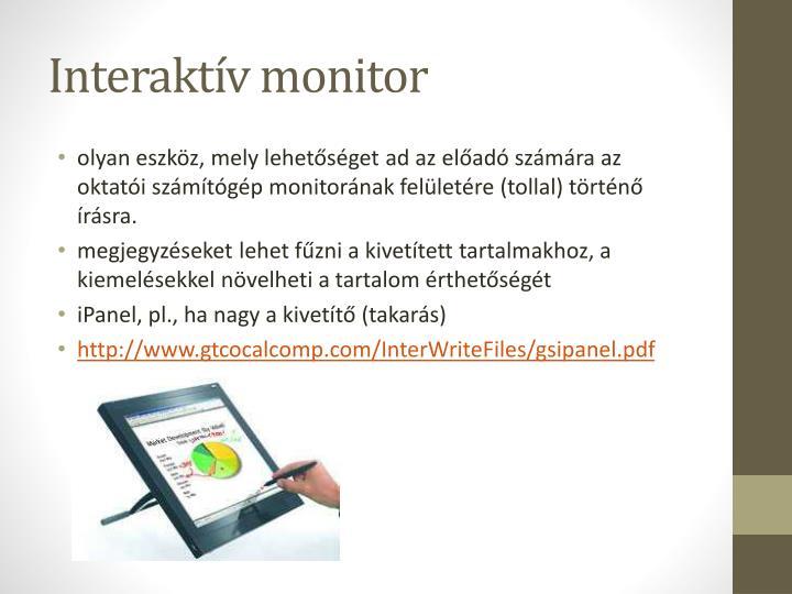 Interaktív monitor