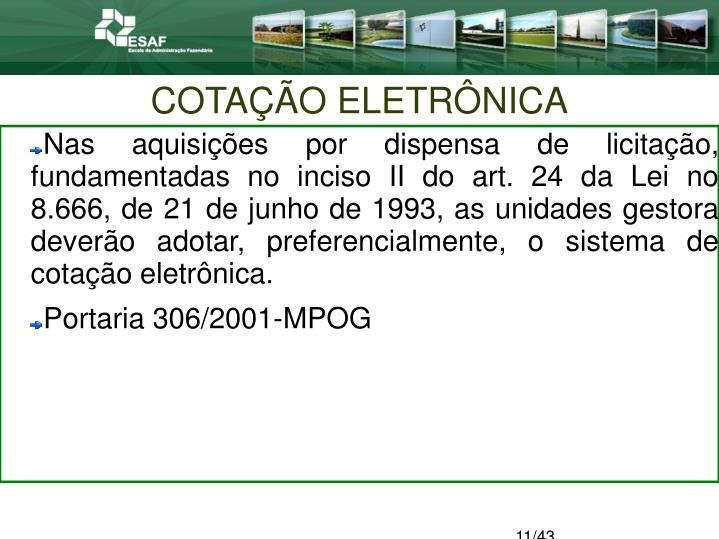 COTAÇÃO ELETRÔNICA