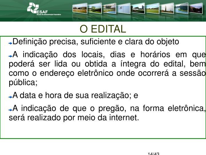 O EDITAL