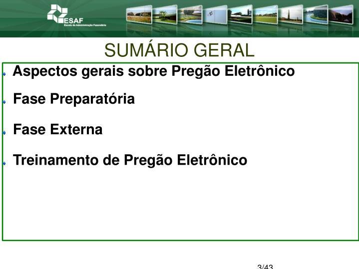 SUMÁRIO GERAL